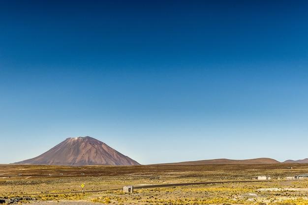 Schöne aussicht auf die salinas und aguada blanca national reservation chillihua in peru gefangen