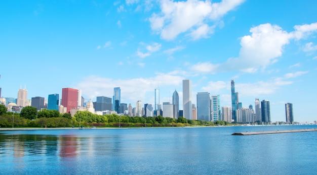 Schöne aussicht auf die stadt chicago