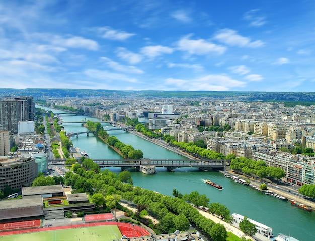 Schöne aussicht auf paris in frankreich