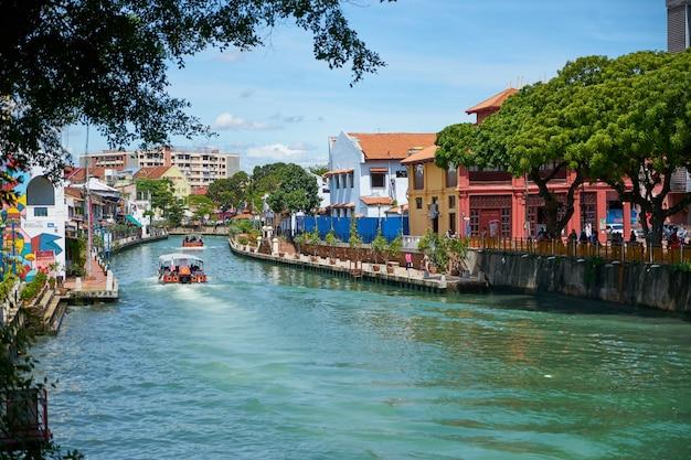Schöne aussicht gebäude malacca architektur