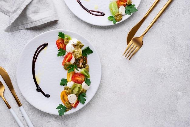 Schöne auswahl an leckerem essen