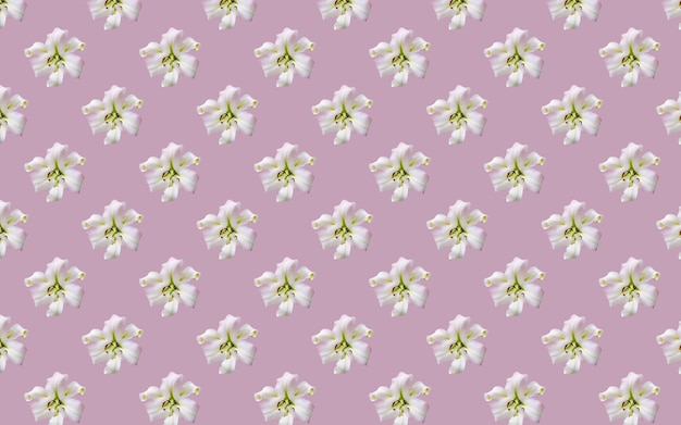 Schöne blumen lilien. nahtloses muster der lilienblumenblüte. natürlicher mit blumenhintergrund.