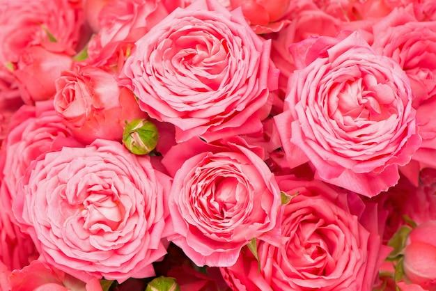 Schöne blumenblumenoberfläche - rosa rosenblumenstraußoberfläche
