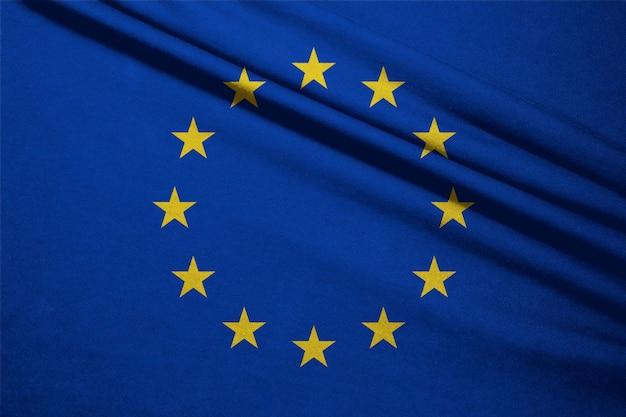 Schöne europäische union oder eu-flagge, eu ist europa land unternehmen für wirtschaftliches ziel.