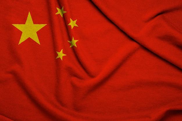 Schöne flagge der republik china, china ist großes land hohes wirtschaftswachstum und alte kultur.