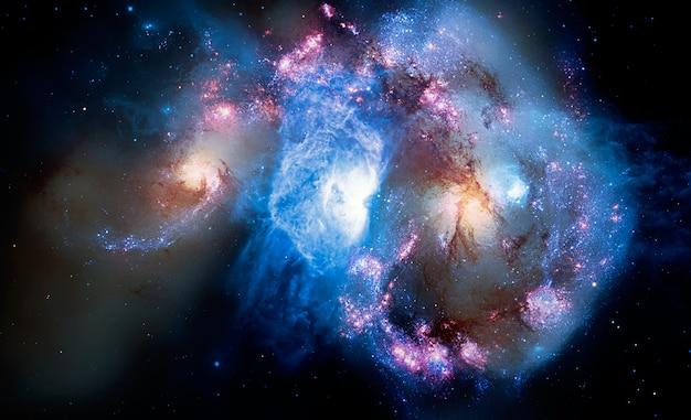 Schöne galaxie im raum, science fictionhintergrund