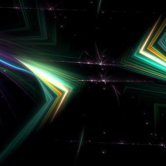Schöne grüne lichter hintergrund