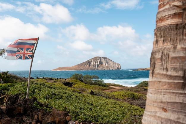 Schöne hawaii-landschaft mit dem blauen meer