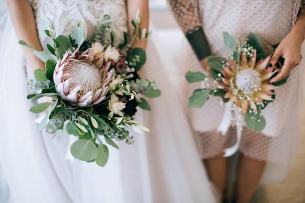 Schöne hochzeitsblumen, dekoration