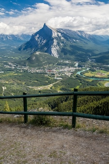 Schöne kanadische rockies in kanada. banff alberta