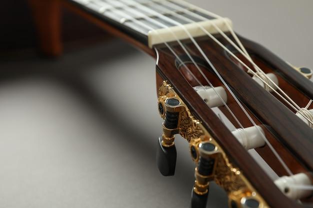 Schöne klassische gitarrennahaufnahme