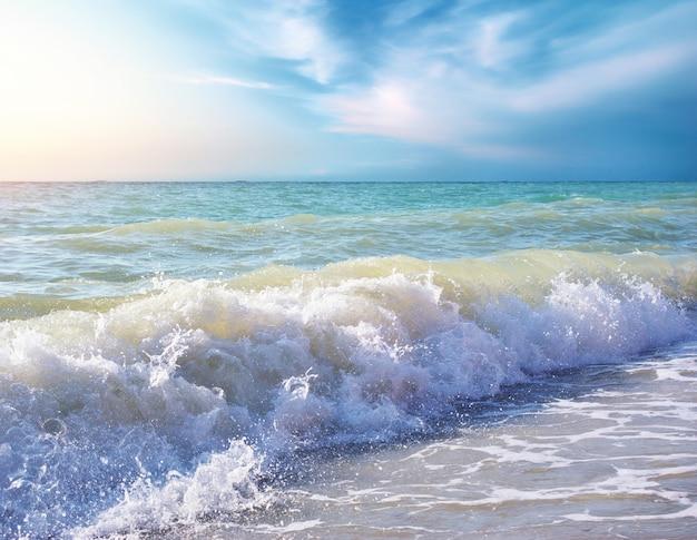 Schöne küste des strandes am tag