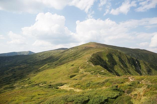 Schöne landschaft der grünen berge