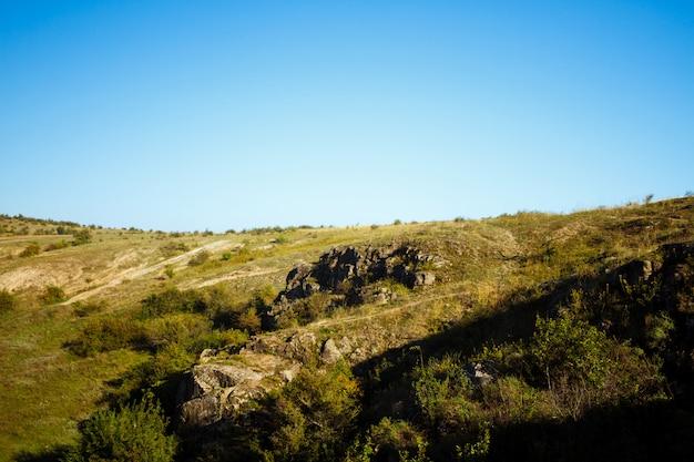 Schöne landschaft der schlucht