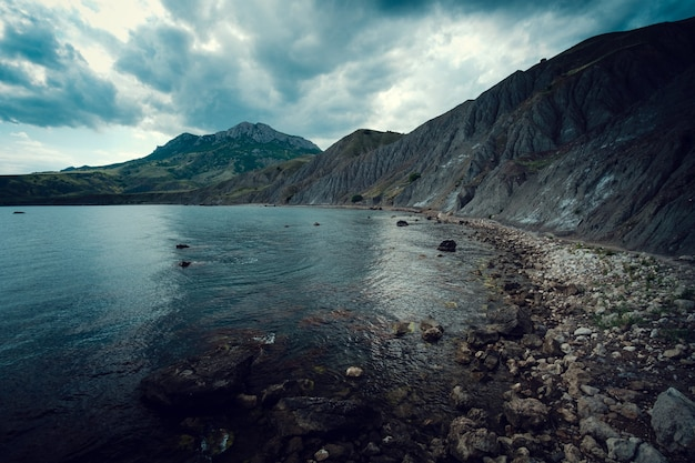 Schöne landschaft des ozeans