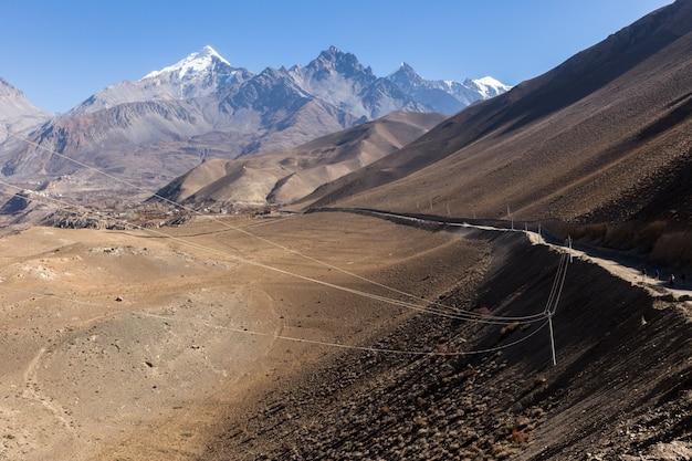 Schöne landschaft, himalaya, nepal