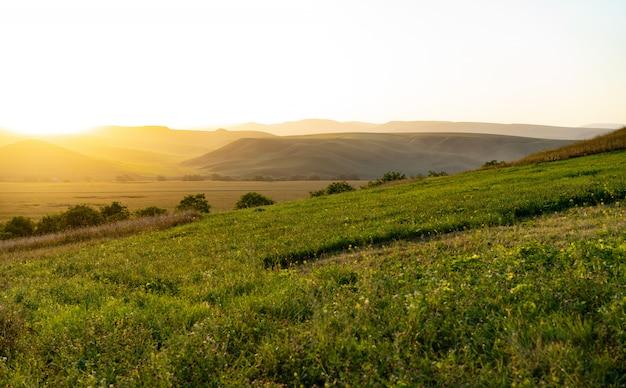 Schöne landschaft in den ausläufern