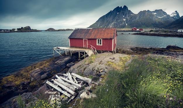 Schöne landschaft in lofoten insel, norwegen