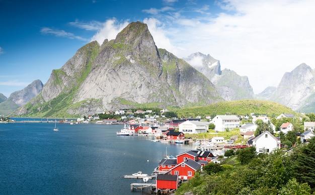 Schöne landschaft in lofoten islands, norwegen