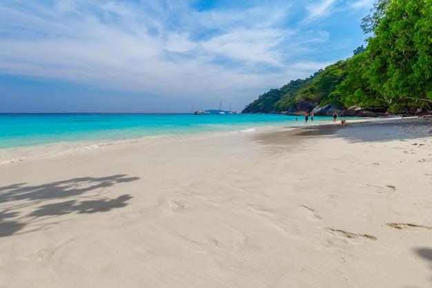 Schöne landschaft und klares wasser in similan island, andaman sea, phuket, thailand
