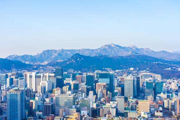 Schöne landschaft und stadtbild der stadt seoul