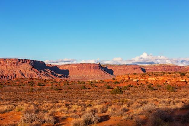 Schöne landschaften der amerikanischen wüste