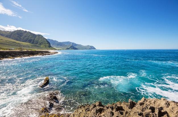 Schöne landschaften in oahu island, hawaii