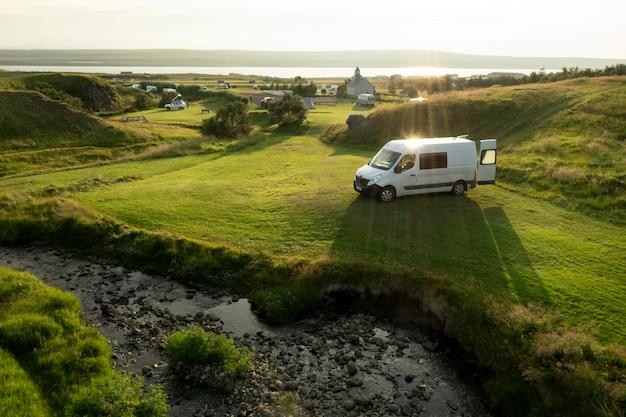 Schöne landschaften von island auf reisen