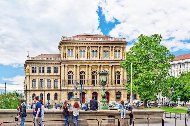 Schöne landschaftsansicht, stadtstraßen, architektur von budapest, hauptstadt von ungarn.