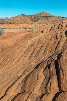 Schöne landschaftsphotographie der welle in nordkojote buttes, arizona