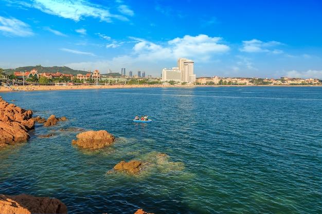 Schöne licht bezirk tourismus view strand