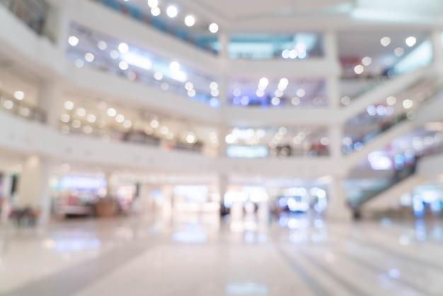 Schöne luxuseinkaufszentrummitte der abstrakten unschärfe