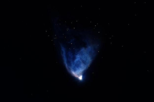 Schöne mehrfarbige galaxie. elemente dieses bildes wurden von der nasa bereitgestellt. foto in hoher qualität