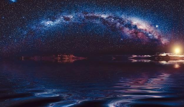 Schöne milchstraße am nachthimmel