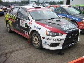 Schöne mitsubishi rallye-auto
