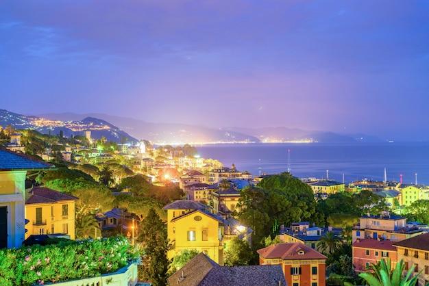 Schöne nacht blick nach santa margherita