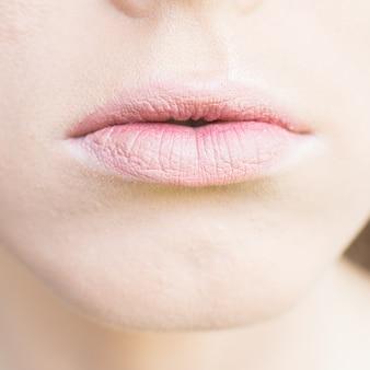 Schöne nackte lippen schminken sich