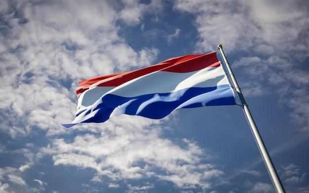 Schöne nationalstaatsflagge der niederlande flattern