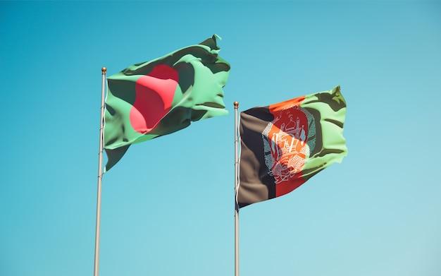 Schöne nationalstaatsflaggen von afghanistan und bangladesch