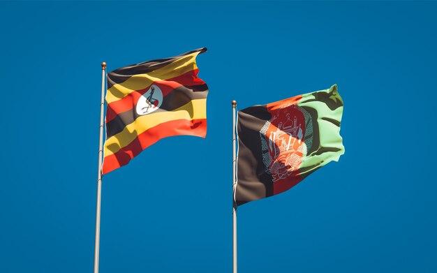 Schöne nationalstaatsflaggen von afghanistan und uganda