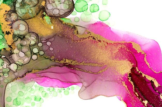 Schöne natürliche farbe aquarellmuster makro waschen zeichnung gold textur