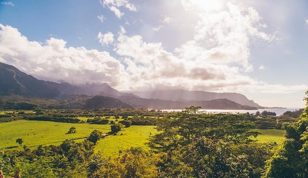 Schöne natur auf der insel kauai, hawaii