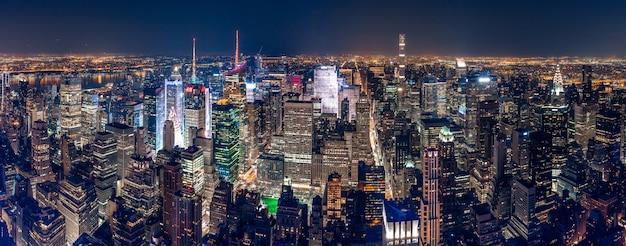 Schöne panoramaaufnahme von new york city