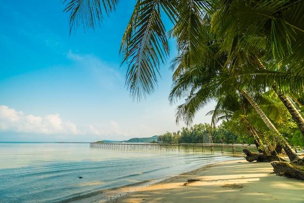Schöne paradiesische insel mit strand und meer