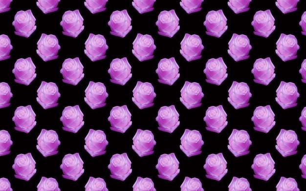 Schöne rosa rosenblüten. blühende rosen nahtlose muster. natürlicher mit blumenhintergrund.
