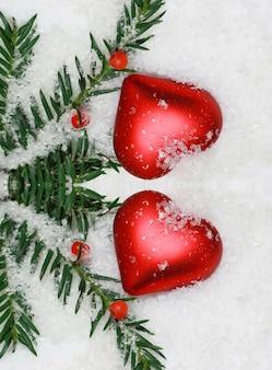Schöne rot- und goldweihnachtsdekoration