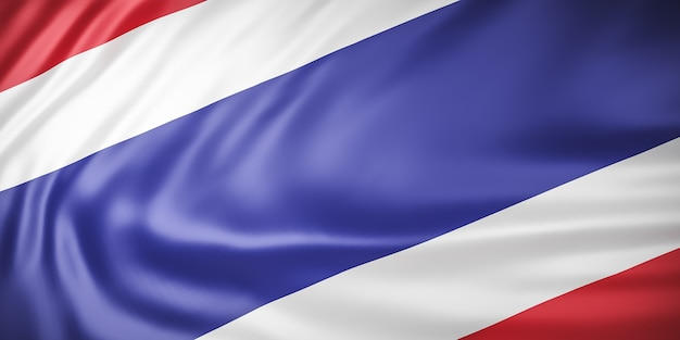 Schöne thailand flag wave close up