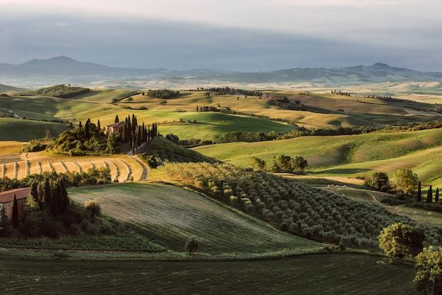 Schöne toskanische landschaft