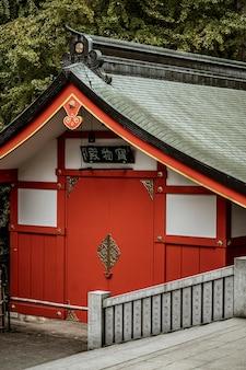 Schöne traditionelle japanische holzstruktur
