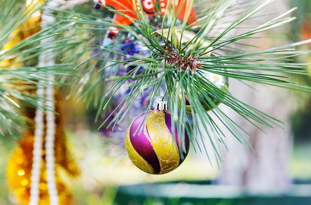 Schöne traditionelle weihnachtsdekor-nahaufnahme